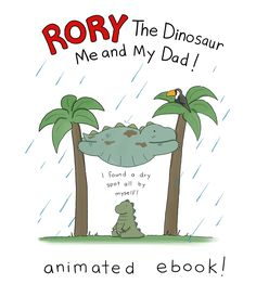 """Hey everyone! My new picture book Rory the Dinosaur is also available as an enhanced, animated ebook! That means you can read along with Rory (whose voice is SUPER cute, btw) and watch him on his adventure! It's a great way to enjoy the book, especially with young kids. For info on where to buy, click here, and scroll down to the""""Ebooks"""" section."""