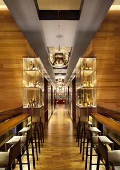 Cool Interior Design Architecture With Restaurant At The Grand Hyatt Union Square Along Brown Bar Table And Grey Bar Stool Also Glass Cabinet Bottle Rack Plus Laminate Wooden Floor As Well As Best Restaurant Design Also Small Restaurant Design, Elegant Design Best Restaurant Interiors: Interior