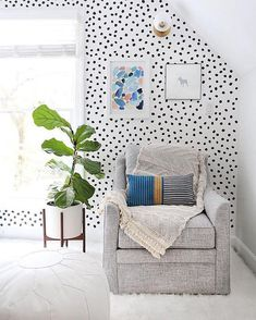 Our Irregular Dot decals are an installation dream come true! These little babies have the power to easily jazz up a space without being labor intensive. Just peel…and stick! And because the dots themselves are irregular, the spacing doesn't have to be perfect (unless you really want it to