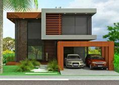 Fachadas de casas de sobrados - veja 50 modelos lindos! www.decorsalteado.com