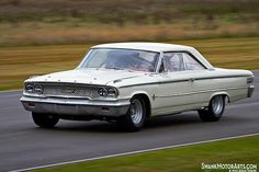 1963 Ford Galaxie 500 during the Dan Gurney tribute parade on Sunday at the 2012 Goodwood Revival. Mercury Cars, Ford Lincoln Mercury, Ford Shelby, Ford Classic Cars, Old Fords, Best Muscle Cars, Ford Fairlane, Car Ford, Ford Motor Company