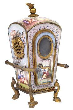 A Viennese ormolu and enamel sedan chair - Wien 1870 Lot 252