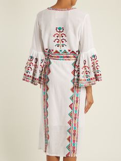 Click here to buy Figue Minette tribal-embroidered cotton dress at MATCHESFASHION.COM