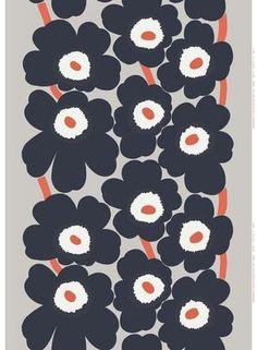 Unikko cotton-linen fabric by Marimekko Marimekko Wallpaper, Marimekko Fabric, Pattern Wallpaper, Floral Fabric, Linen Fabric, Cotton Linen, Textile Patterns, Print Patterns, Floral Patterns