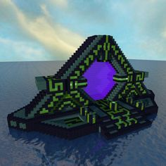 I built a subnautica themed nether precursor portal - Minecraft Minecraft Portal, Minecraft Castle, Minecraft Plans, Minecraft Survival, Amazing Minecraft, Minecraft Tutorial, Minecraft Blueprints, Minecraft Crafts, Minecraft Mods