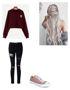 """""""Untitled #8"""" by elivona on Polyvore featuring Miss Selfridge and Converse"""