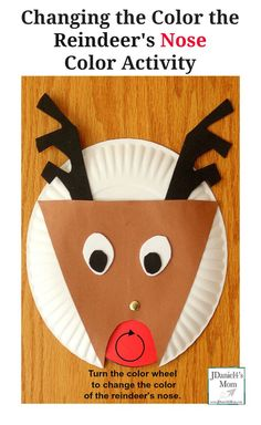 Your E-Organization - Employ An Accountant Or Do It Yourself Changing The Color Of The Reindeer's Nose Color Activity Christmas Crafts For Kids To Make, Easy Crafts For Kids, Christmas Art, Simple Crafts, Kid Crafts, Christmas Ideas, Preschool Christmas Activities, Preschool Crafts, Color Activities