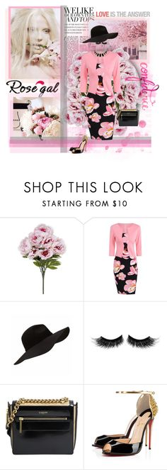 """""""Rosegal"""" by daniela-896 ❤ liked on Polyvore featuring Magdalena, eylure, Lanvin, Christian Louboutin and Kate Spade"""