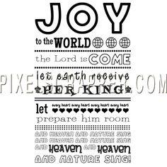 Joy to the World Word Art by Marisa Lerin | Pixel Scrapper digital scrapbooking