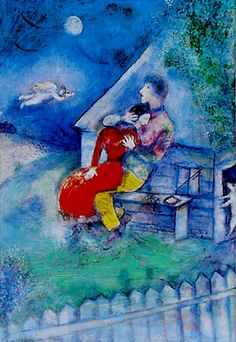 Marc Chagall, The Lovers 1929 Israel Tel Aviv Museum Marc Chagall, Art Amour, Chagall Paintings, Museum Poster, The Embrace, Jewish Art, Pablo Picasso, French Artists, Beautiful Paintings