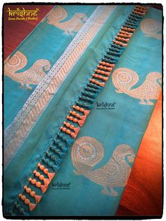 Designer Saree Tassel Cotton Saree Blouse Designs, Saree Tassels Designs, Saree Kuchu Designs, Kids Blouse Designs, Hand Embroidery Videos, Hand Embroidery Designs, Couture, Sarees, Diy