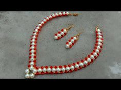 How to make pearl necklace crystal necklace useful & easy hi today i am gonna show you how to make this beautiful pearl necklace at home its a designer cryst. Pearl Necklace Designs, Pearl Necklace Wedding, Crystal Necklace, Beaded Earrings, Crystal Beads, Crystals, Diamond Cross Necklaces, Pearl Bracelets, Pearl Rings