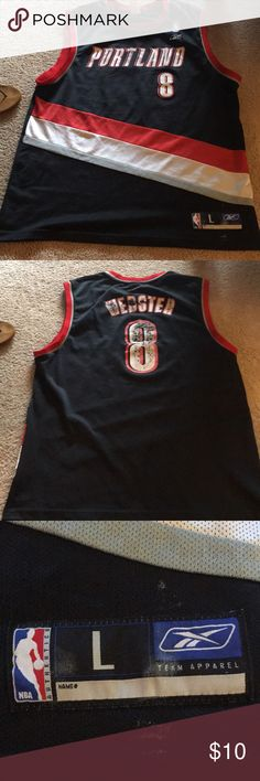 Portland trailblazers jersey size large. Men's. A great gift (looks throwback) for your man! Tops Muscle Tees