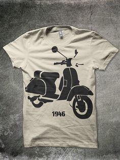 VESPA invented in 1946/ built to last T'Shirt by parmob on Etsy, $22.00