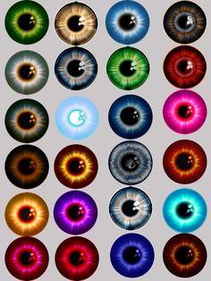 free printable eye iris | Printable Eyes - More nice pupils to make eyes out of.: