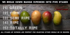 5 Stages of Ripness Be Perfect, The Selection, Mango, Stage, Organic, Apple, Fruit, Green, Recipes