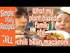 What My Plant-based Family Ate Monday Night-Chili Bean Macaroni