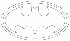 Superhero logo coloring pages google search children for Batman logo cake template