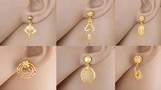 Gold heart stud earrings - valentine's day gift/ valentine's jewelry/ heart jewelry/ small gold studs/ gold heart/ simple/ heart of gold - Jewellery Latest Earrings Design, Gold Earrings Designs, Gold Drop Earrings, Designer Earrings, Necklace Designs, Diamond Earrings, Baby Earrings, Gold Designs, Small Earrings