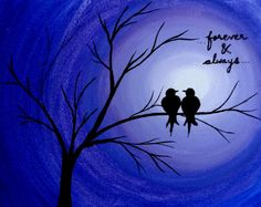 Hey, I found this really awesome Etsy listing at https://www.etsy.com/listing/199430134/love-birds-painting-canvas-quotes