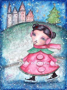 Christmas Whimsy Fine Art Print by willowing on Etsy, £12.00