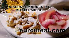 Buttermilch Kaiserschmarren, einfach, schnell, selbst gemacht Butter, Kaiser, Oatmeal, Breakfast, Food, Eating Well, Milk, Food Food, Cooking