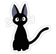 Jiji the cat from Kiki's Delivery Service. I saw a huge demand for these on pinterest & thehunt.com (on a pink crewneck) but the designer has since stopped supplying them so I made the design! • Also buy this artwork on stickers, apparel, phone cases, and more.