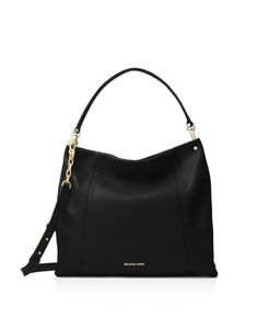 eceba22dfb7d Michael Kors Lex Large Convertible Hobo Black Gold Shoulder bag Purse tote  NWT  MichaelKors
