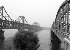 The Friendship Bridge between China and North Korea - Dandong, China