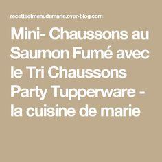Mini- Chaussons au Saumon Fumé avec le Tri Chaussons Party Tupperware - la cuisine de marie