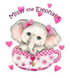 DIY Diamond Embroidery Full Diamond Painting Cross Stitch Cute Pink Elephant Needlework Home Decorative Diamond Mosaic Happy Elephant, Elephant Love, Elephant Art, Elephant Nursery, Cute Cartoon Wallpapers, Cartoon Pics, Cute Images, Cute Pictures, Teacup Kitten