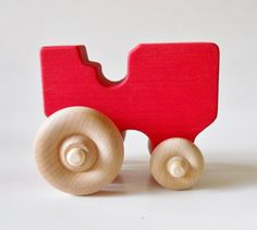 Wooden Toy Tractor Farm Vehicle Wooden Toy by 2HeartsDesire, $9.50