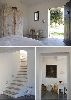 Rural house in Provence / casa rural Shabby Chic Interiors, Shabby Chic Homes, White Interiors, Vintage Interiors, Casa Petra, Modern Country Style, Vintage Country, Vintage Style, European Style