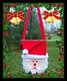 Santa Purse Crochet Pattern.This Is Not A Flat Purse.
