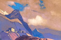 Tibet. At Brahmaputra. - Nicholas Roerich - 1936