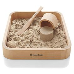 Kinetic sand // enjoy meditative or creative moments with this kinetic sand! BrookStone Sand Box x Brookstone Kinetic Sand Box, Kids Sandbox, Sandbox Ideas, Ideas Hogar, Surprise Gifts, Wood Toys, Looks Cool, Kids Playing, Kinetic Sand