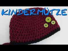 Kindermütze häkeln für Anfänger Anleitung - Takatsuki Mütze häkeln - Häkelmädel - YouTube