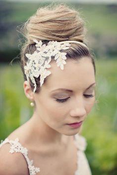 Anais Lace headpiece by nicolawellard on Etsy, £125.00