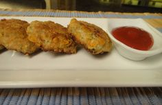 Barley and Chicken Nuggets: Delicious crispy nuggets made with the goodness of chicken and pearl barley. Food For Pregnant Women, Pearl Barley, Chicken Nuggets, Finger Foods, Food Videos, Cauliflower, Fries, Vegetarian, Healthy Recipes