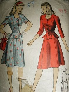 Adele  1940s WWII Era Vintage Style Casual by timemachinevintage, $130.00