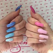 This series deals with many common and very painful conditions, which can spoil the appearance of your nails. But for you, nail technicians, this is not a problem! SPLIT NAILS What is it about ? Nails are composed of several… Continue Reading → Summer Acrylic Nails, Best Acrylic Nails, Pastel Nails, Summer Nails, Spring Nails, Pink Blue Nails, Colourful Acrylic Nails, Colorful Nail Designs, Cool Nail Designs