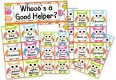 Owl Themed Job Display product from FlapJack-Ed-Resources on TeachersNotebook.com