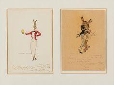 Max Schwimmer (1895-1960), 2 Ostergrüße, Zeichnungen, 1940er