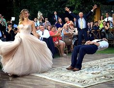 "Justin Willman and Jillian Sipkins performing their first dance to ""I Put a Spell on You"" at their Sept. 6 wedding"