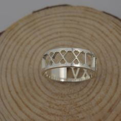 Roman numeral Ring Personalized Wedding Date by SilverNameNecklace