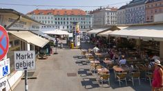 Karmelitermarkt in Vienna's up and coming district Leopoldstadt. Not as fancy as Naschmarkt, but more bohemian and relaxed. Good restaurants on site. Christmas In Europe, Life Photo, Austria, Street View, In This Moment, City, Squares, Places, Restaurants
