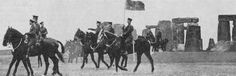 King George V and Lord Kitchener visit Stonehenge, 1915  The visit was about reviewing troops training on Salisbury Plain, not tourism to the stones. King George V and Secretary of State for War Herbert Kitchener were both Field Marshals in the British Army.