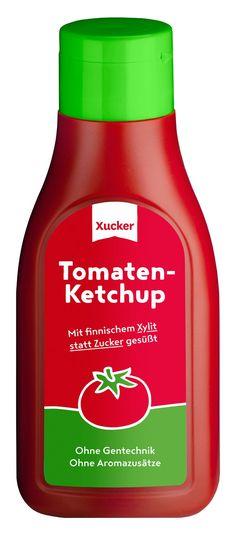 Xucker Tomatenketchup – Ketchup mit Xylit gesüßt statt mit Zucker. Ohne Gentechnik. Ohne Aromazusätze.