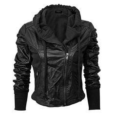 Black Leather Jacket. I Need this.