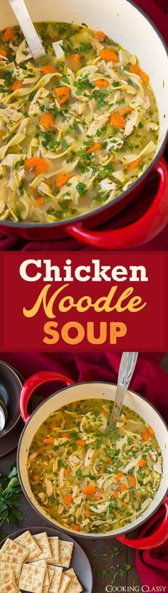 Chicken Noodle Soup - easy, comforting and perfect for any day of the year! A go to recipe for me!